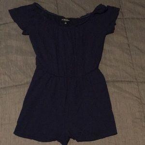 Navy blue shorts romper sz Small